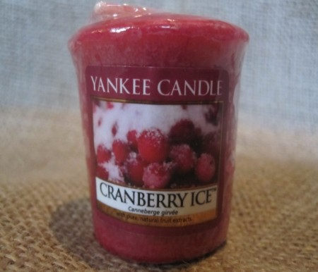 Cranberry Ice smeltelys.