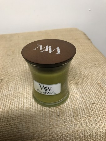 Woodwick Perfect Pear liten krukke.